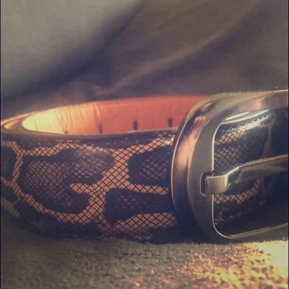 Mens Snake Skin Leather Belt